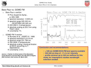 Bass-Paur vs. GOME FM Bass Paur x-section Proc.Quadr.Oz.Symp.,                   p. 606,1985