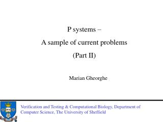 P systems –  A sample of current problems  (Part II)