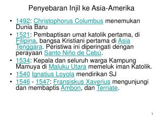 Penyebaran Injil ke Asia-Amerika