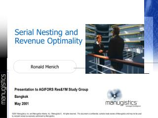 Serial Nesting and Revenue Optimality