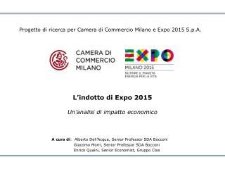 L�indotto di Expo 2015 Un�analisi di impatto economico