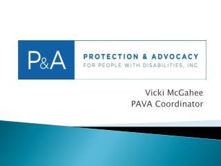 Vicki McGahee PAVA Coordinator