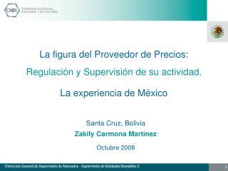 La figura del Proveedor de Precios: Regulación y Supervisión de su actividad.