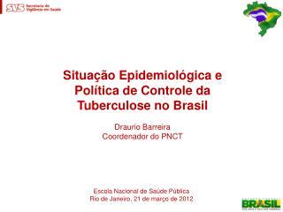 Tuberculose como problema de saúde pública e doença determinada e perpetuadora da miséria