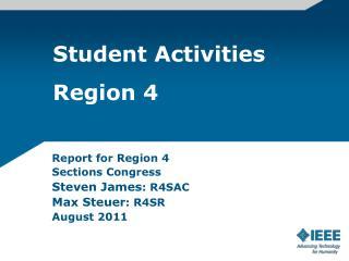 Student Activities Region 4