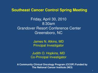 Southeast Cancer Control Spring Meeting