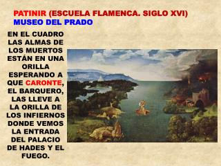 PATINIR  (ESCUELA FLAMENCA. SIGLO XVI)  MUSEO DEL PRADO
