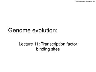 Genome evolution: