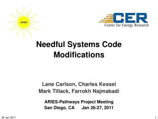 Needful Systems Code Modifications