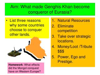 Aim: What made Genghis Khan become conqueror of Eurasia?