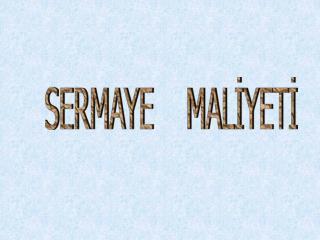 SERMAYE    MAL?YET?