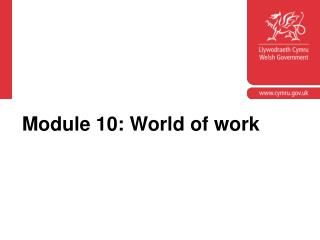 Module 10: World of work