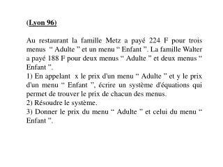 ( Lyon 96)