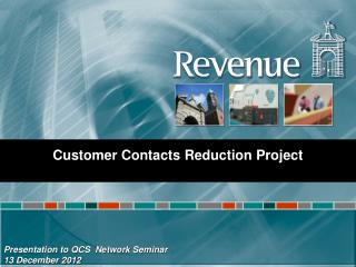 Presentation to QCS  Network Seminar  13 December 2012