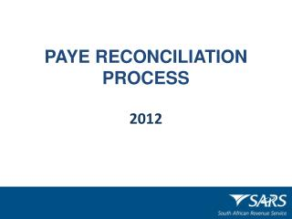 PAYE RECONCILIATION PROCESS