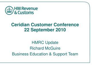 Ceridian Customer Conference 22 September 2010