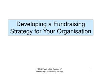 Developing a Fundraising Strategy for Your Organisation