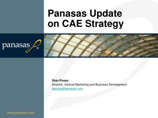Panasas Update on CAE Strategy