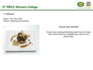 5 th  PBCC Winners College