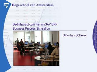 Bedrijfspracticum met mySAP ERP Business Process Simulation