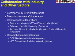 Collaboration with Industry and Other Sectors