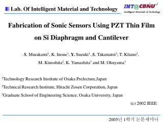 Fabrication of Sonic Sensors Using PZT Thin Film on Si Diaphragm and Cantilever