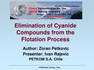 Elimination of Cyanide Compounds from the Flotation Process