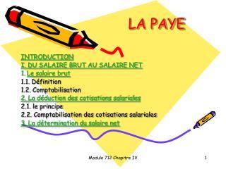 LA PAYE