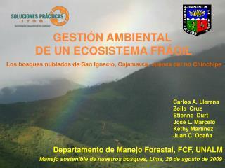 Departamento de Manejo Forestal, FCF, UNALM