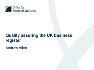 Quality assuring the UK business register