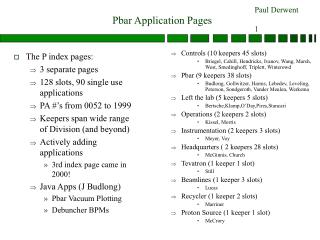 Pbar Application Pages