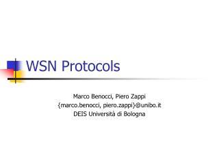 WSN Protocols