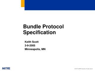 Bundle Protocol Specification