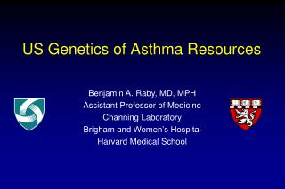 US Genetics of Asthma Resources