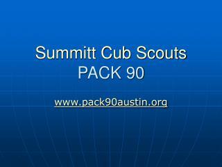 Summitt Cub Scouts PACK 90