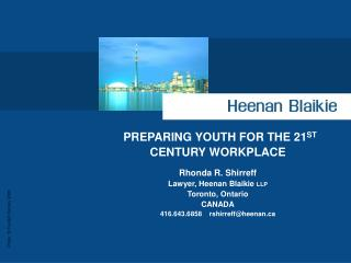 PREPARING YOUTH FOR THE 21 ST  CENTURY WORKPLACE