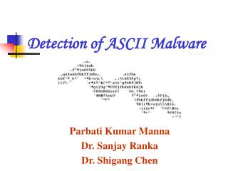 Detection of ASCII Malware