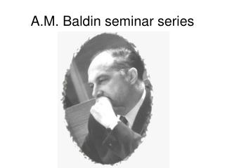 A.M. Baldin seminar series
