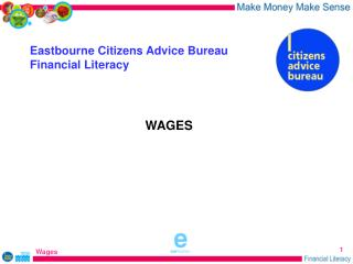 Eastbourne Citizens Advice Bureau Financial Literacy