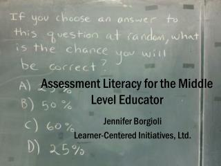 Assessment Literacy for the Middle Level Educator