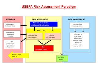 USEPA Risk Assessment Paradigm