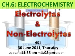 CH.6: ELECTROCHEMISTRY
