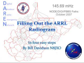 Filling Out the ARRL Radiogram