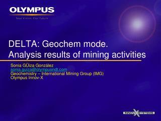 DELTA: Geochem mode. Analysis results of mining activities