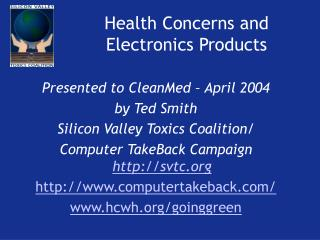 Health Concerns and Electronics Products