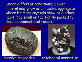 massive magnetite