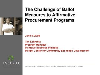The Challenge of Ballot Measures to Affirmative Procurement Programs