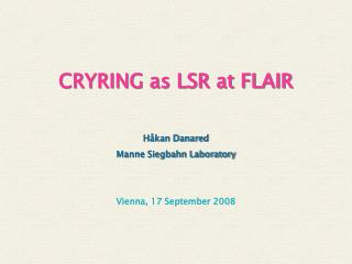 Vienna, 17 September 2008