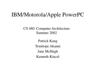 IBM/Motorola/Apple PowerPC