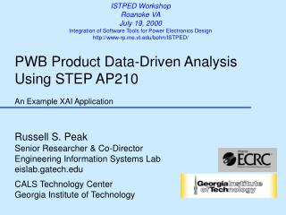 PWB Product Data-Driven Analysis  Using STEP AP210 An Example XAI Application